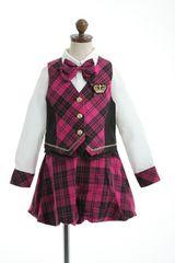アイドル☆スーツ ピンクチェック 130 パーティー 七五三