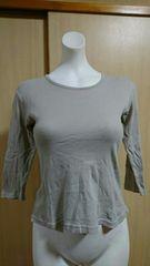 シンプル グレー 七部Tシャツ