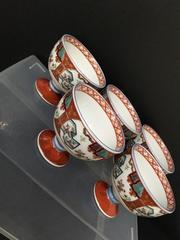 4318 陶器 かわいい手描き小鉢セット 絵柄