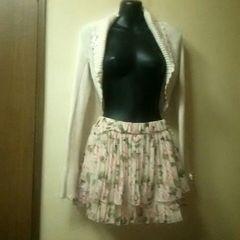 gaminerie未使用★衿、袖にリボンが可愛いボレロM