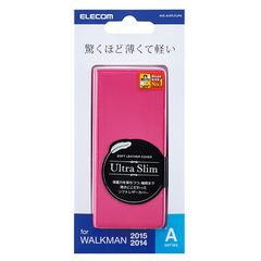 ウォークマンNW-A10,A20シリーズ用ソフトレザーカバー ピンク