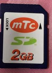 ●送料込★MTC(エムティーシー) SDカード2GB★【新品激安】