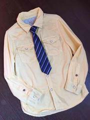 ZARA BOYS カラーコットンシャツ・ネクタイ付き 卒園入学