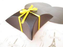 紙箱ピロー型黒10個7�p