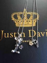 美品◆JUSTIN DAVIS◆ミッキーネックレス◆45cm◆クロムハーツ