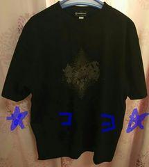 ポケモンセンター シャツ Lサイズ イーブイ進化系 ブラック 中古