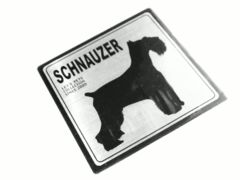送定-kgドッグステッカーシルバーDOGStickerSCHNAUZER銀犬シールシュナウザー愛犬