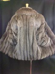 高級毛皮SAGAオシャレな色フォックスハーフコート11号