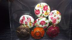美品 花柄ボタン(7ヶ)