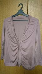 ゼム◆size:R (13号位)羽織り◆ピンク