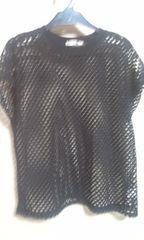 透ける 黒の素敵なセーターフリーサイズ
