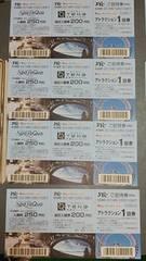 東京ドームシティ アトラクション1回券8枚 有効期限あり