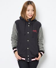 X-girl×Champion BUTTON HOODIE