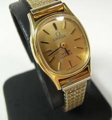 500スタ☆本物正規オメガ デビル クォーツ腕時計 1350 SWISS