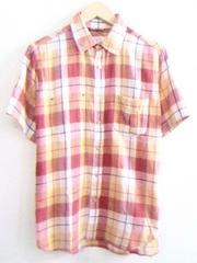 BEAMS■チェックシャツ■フェイクポケット■麻混合■ビームス