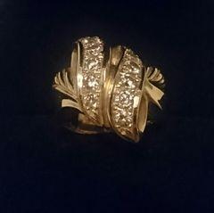 18金ゴールド★ゴージャス★1カラットダイヤモンド指輪★刻印アリ★18k★