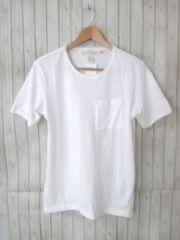 ☆H&M/エイチアンドエム ポケット付き 半袖Tシャツ/メンズ/XS/白☆新品
