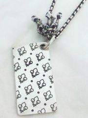 パトリックコックス【PATRICK COX】925SV 王冠 ユリの紋章 プレート ネックレス