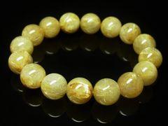 おすすめ 金針水晶ゴールドルチルブレスレット 12ミリ数珠パワーストーン