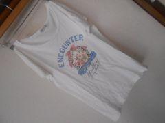earth*半袖TシャツS*ウサギプリント*クリックポスト164円