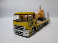 ザ・トラックコレクション第12弾 UDトラックスクオン重機運搬車 黄