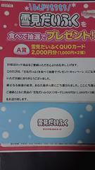 当選品☆ロッテ雪見だいふく 土屋太鳳クオカード1000円×2種☆