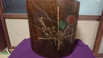 江戸時代…大名豪族火鉢…欅像巌…豪華盛り金技法