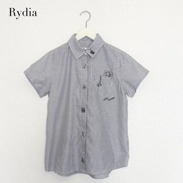 【Rydia】コビニャーストライプブラウス ブラック リディア WWL!