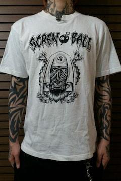即決screw8ballマントヒヒタトゥーTシャツ!ホットロッドグリーサーパンクバイカースタイル