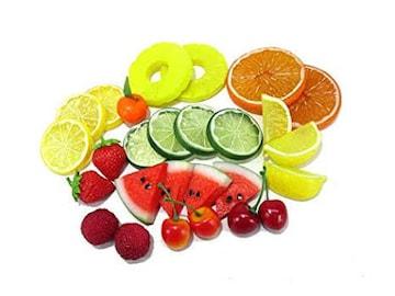 色鮮やか スライス カット フルーツ 食品サンプル ディスプレイ