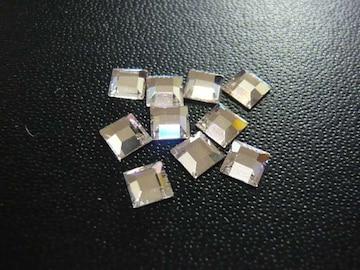 スワロフスキー #2400 4mm クリスタル 10個 正方形 3091