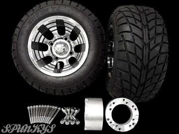ジャイロ用 ブラックホイール バギータイヤ&スペーサー70mm