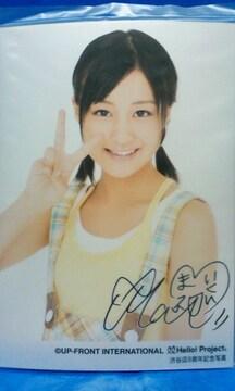 ハロショ渋谷店8周年記念写真メタリックL判1枚 2009.7.19/萩原舞