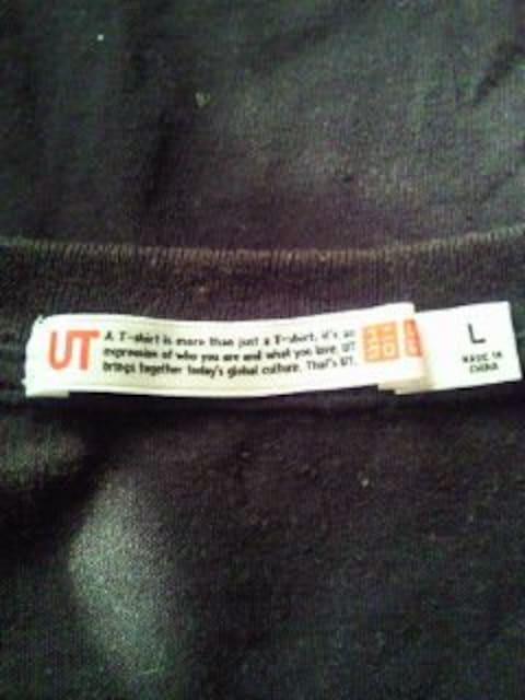 LA kitson キットソン UNIQLO ユニクロ コラボ キラキラ ラメ Tシャツ ブラック Lサイズ < ブランドの