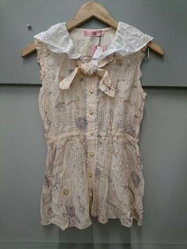 Ank Rouge☆コットンノースリーブシャツ