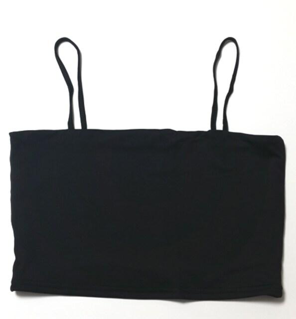 新品[7940]黒ショート丈キャミソール(パッドなし) < 女性ファッションの