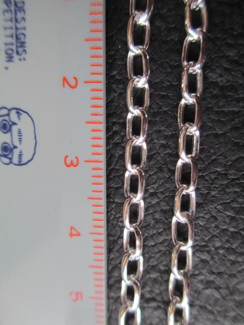 イタリア製シルバー925チェーン 3.1mm 60cm 11.2g *RMToval060 < 男性アクセサリー/時計の