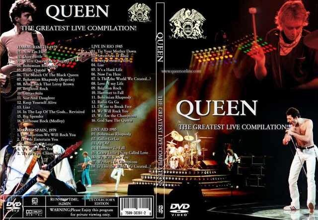 クイーン THE GREATEST LIVE 歴史的名演4公演!・Queen  < タレントグッズの