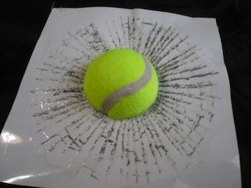 ●送料無料!びっくり 食い込デカール テニスボール ステッカー