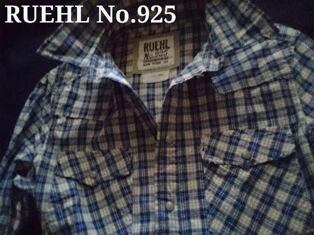 【RUEHL No.925】Vintage Destroyed チェックシャツ L/Blue < ブランドの
