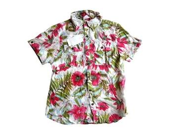 新品 定価4725円 アロー ARROW ガーゼ綿 花柄 シャツ ブラウス