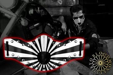 送料無料 カラスマスク 暴走族 オラオラ フェイスマスク 特攻 ヤンキー ギャング 20020黒