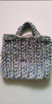 手編みミニバック
