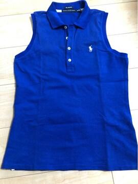 ラルフローレンゴルフノースリーブ blue