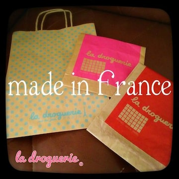 パリの風♪非売品 レア!フランス パリのパーツ屋 ラドログリー クラフト ショップ袋