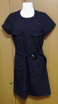 m�Eセオリー黒 半袖 ワンピース サイズ2