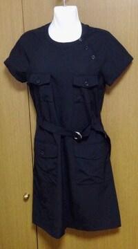 Я】�Eセオリー黒 半袖 ワンピース サイズ2