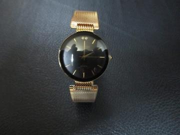 HILTON 18K GOLD ELECTRIC PLATED 腕時計 クォーツ