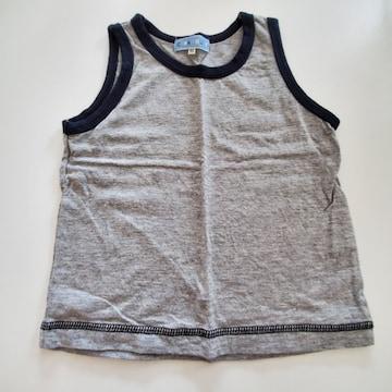 グレー無地、袖無しTシャツ80