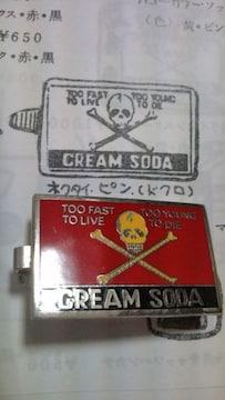 激レア 初期クリームソーダネクタイピン ロカビリー 当時物 ピンクドラゴン creamsoda